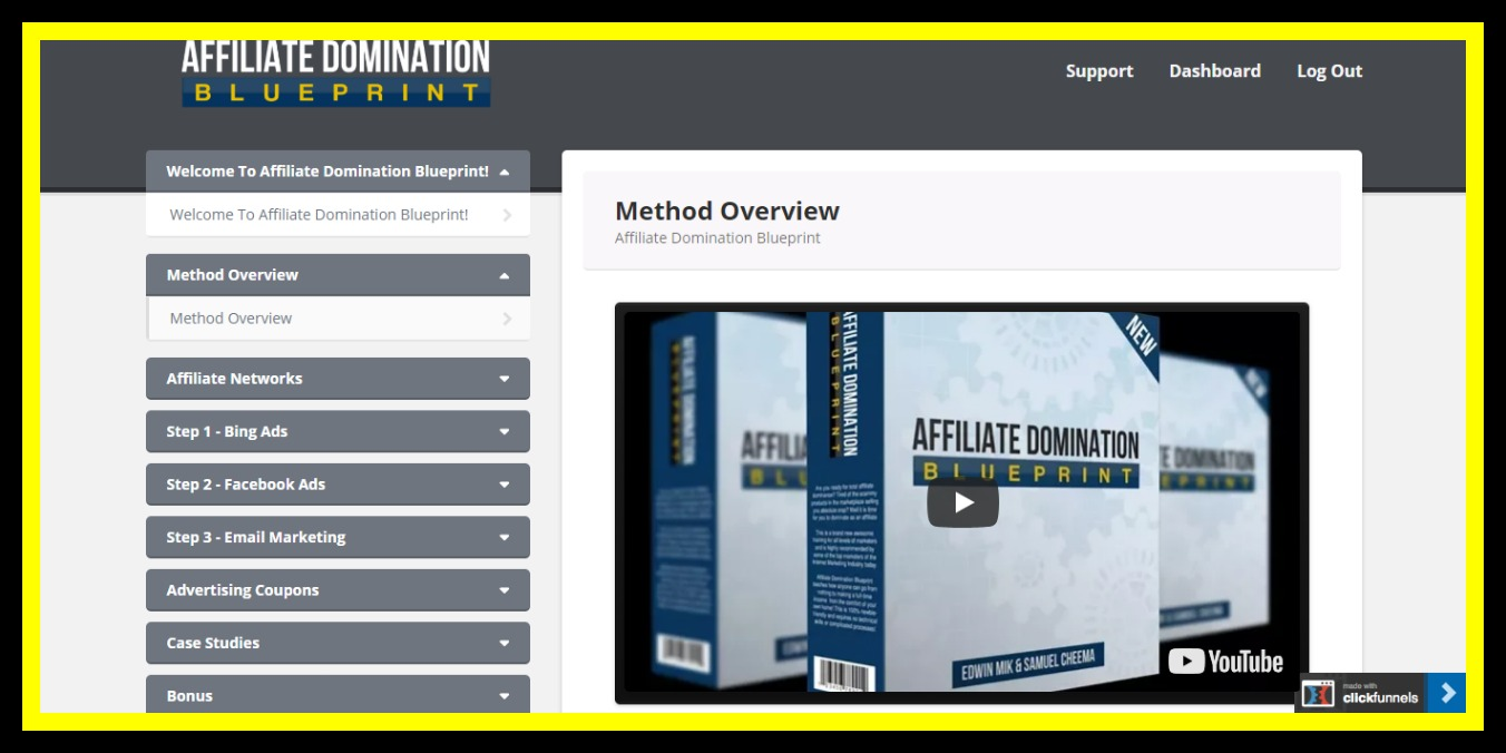 affiliate domination blueprint review members area