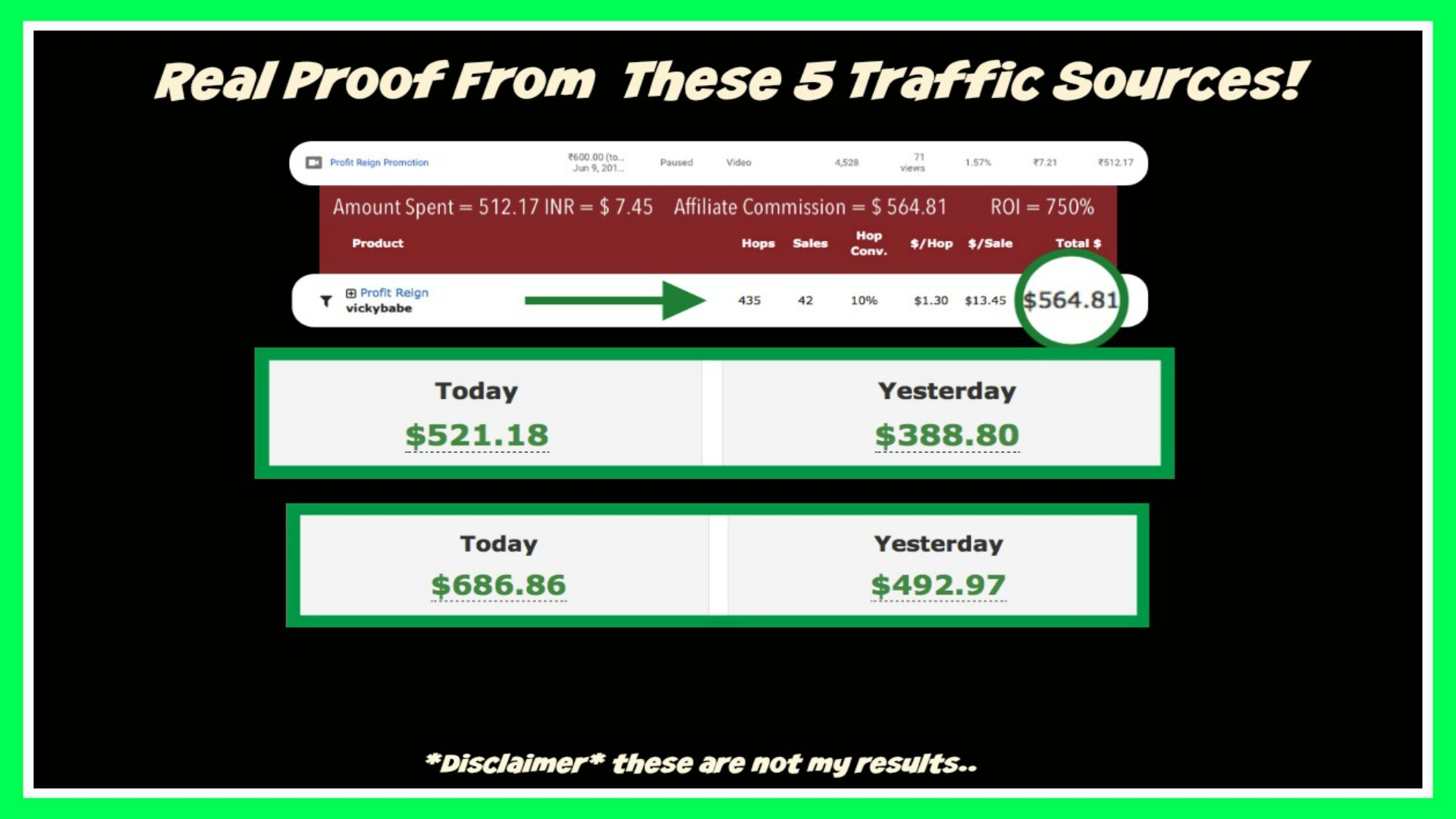 affcasho proof that 5 best traffic sources work